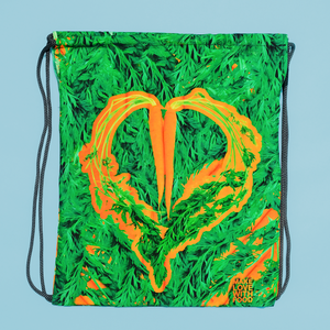 Carrot Heart Drawstring Bag