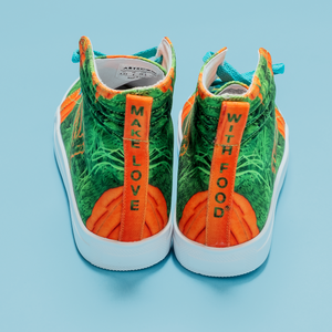 Carrot Heart Kids Hi-top shoe back