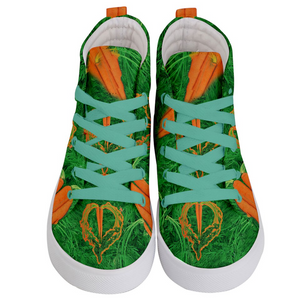 Carrot Heart Kids Hi-top shoe front
