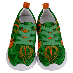 Carrot Heart Kids Lightweight Sports Shoes Front