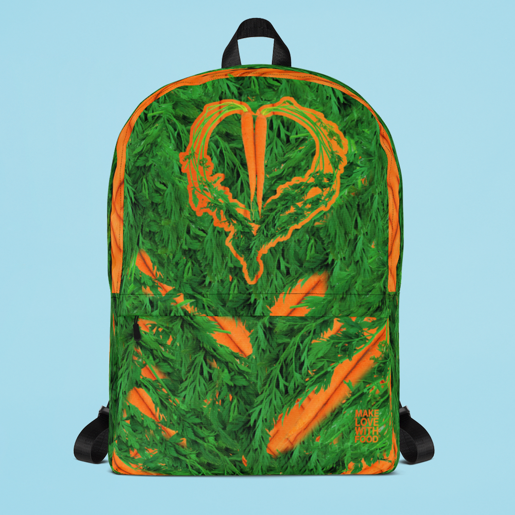 Carrot Heart Kids and Toddler Backpack Front