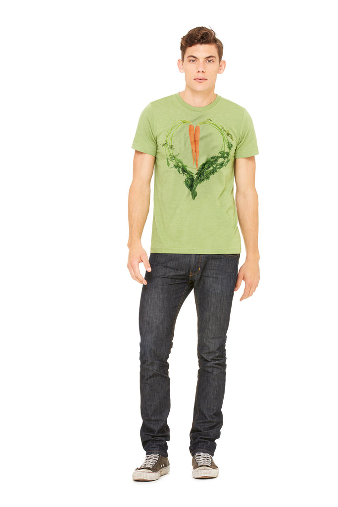 Carrot Heart Men's Tee by JF Organic Farms - Make Love With Food  - 1