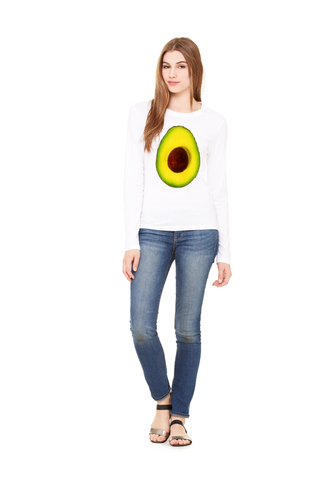 Hass Avocado Long Sleeve Women's Tee by Garcia Organic Farm - Make Love With Food  - 1