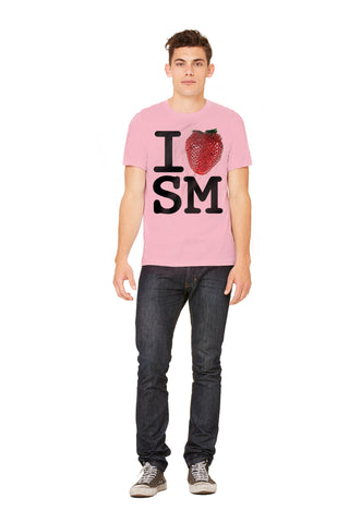 The Big Berry aka I Love Santa Monica Strawberry Men's Tee - Make Love With Food  - 1