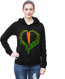 Carrot Heart Men's Hoodie by JF Organic Farms - Make Love With Food  - 2