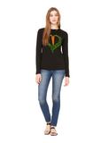 Carrot Heart Long Sleeve Women's Tee by JF Organic Farms - Make Love With Food  - 2