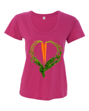 Carrot Heart Women's Satin Jersey Roadtrip Tee by JF Organic Farms - Make Love With Food  - 2