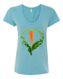 Carrot Heart Women's Satin Jersey Roadtrip Tee by JF Organic Farms - Make Love With Food  - 3