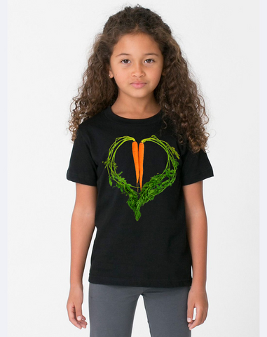Carrot Heart Kids Tee by JF Organic Farms - Make Love With Food  - 1