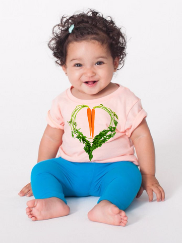 Carrot Heart Infant Tee by JF Organic Farms - Make Love With Food  - 1