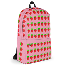Load image into Gallery viewer, Strawberry Pink Backpack side