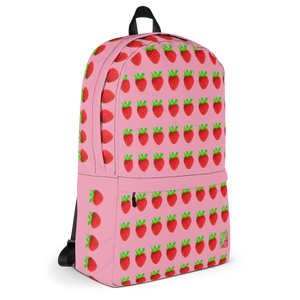 Strawberry Pink Backpack side