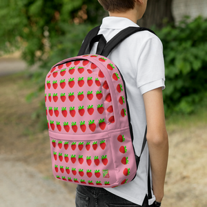 Strawberry Pink Backpack lifestyle