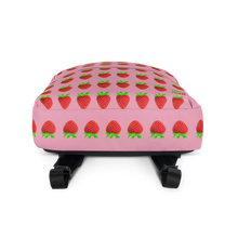 Load image into Gallery viewer, Strawberry Pink Backpack bottom