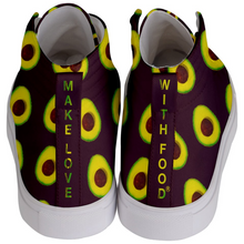Load image into Gallery viewer, Maroon Avocado Kids Hi-top shoe back