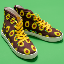 Load image into Gallery viewer, Maroon Avocado Kids Hi-top shoe side