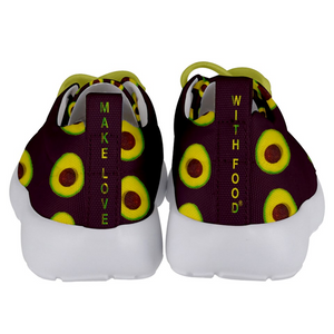 Maroon Avocado Kids Lightweight Sports Shoes Back