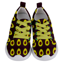 Load image into Gallery viewer, Maroon Avocado Kids Lightweight Sports Shoes Front