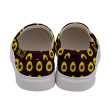 Load image into Gallery viewer, Maroon Avocado Women's Slip-On Shoe Back