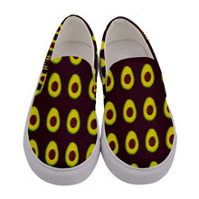Load image into Gallery viewer, Maroon Avocado Women's Slip-On Shoe Front