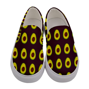 Maroon Avocado Women's Slip-On Shoe Front