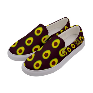 Maroon Avocado Women's Slip-On Shoe Side