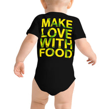 Load image into Gallery viewer, Avocado Baby Short Sleeve Cotton Onesie Black Back