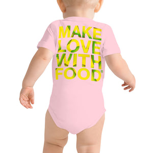 Avocado Baby Short Sleeve Cotton Onesie Pink Back
