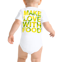 Load image into Gallery viewer, Avocado Baby Short Sleeve Cotton Onesie White Back