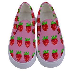 Pink Strawberry Kids Slip-On shoe top