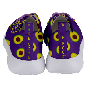 Purple Avocado Women's Lightweight Sports Shoes Back