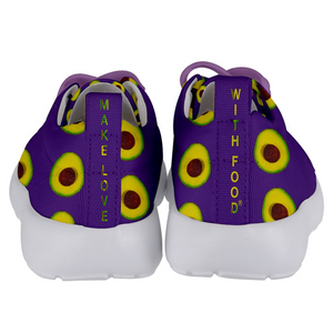 Purple Avocado Kids Lightweight Sports Shoes Back