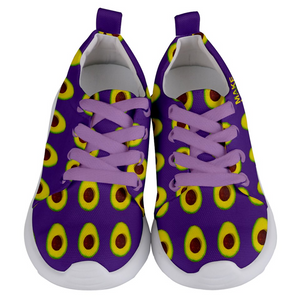 Purple Avocado Kids Lightweight Sports Shoes Front