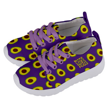 Load image into Gallery viewer, Purple Avocado Kids Lightweight Sports Shoes Side