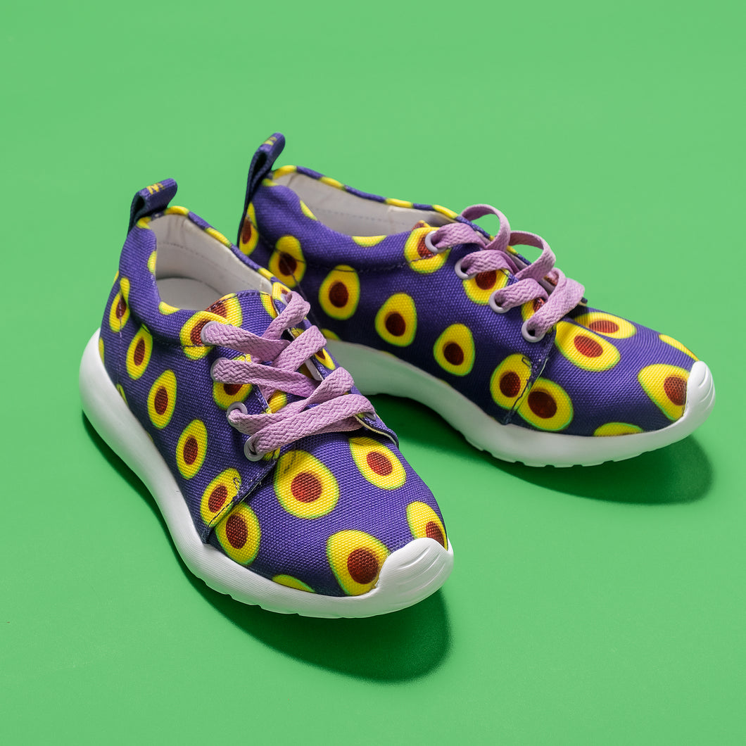 Purple Avocado Kids Lightweight Sports Shoes Side