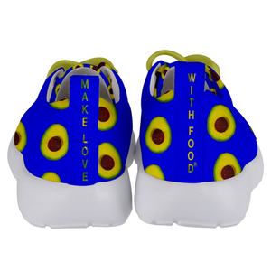 Royal Blue Avocado Kids Lightweight Sports Shoes Back