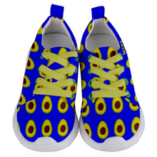 Load image into Gallery viewer, Royal Blue Avocado Kids Lightweight Sports Shoes Front