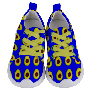 Royal Blue Avocado Kids Lightweight Sports Shoes Front