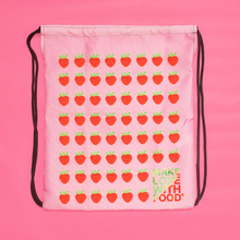 Load image into Gallery viewer, Strawberry Drawstring Bag