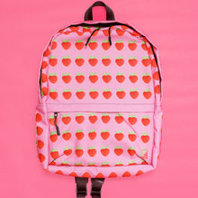 Load image into Gallery viewer, Strawberry Pink Backpack Front 2