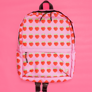 Strawberry Pink Backpack Front 2