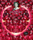 Pomegranate Heart Canvas Painting by Burkart Organics - Make Love With Food  - 2