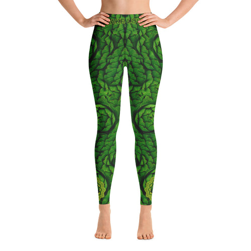 Artichoke Heart Chakra Women's Yoga Workout Leggings front