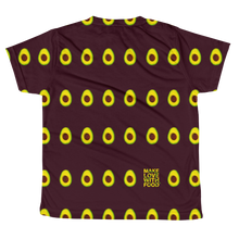 Load image into Gallery viewer, Avocado All Over Youth and Kids Short Sleeve T Shirt Maroonback