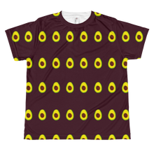 Load image into Gallery viewer, Avocado All Over Youth and Kids Short Sleeve T Shirt Maroon front