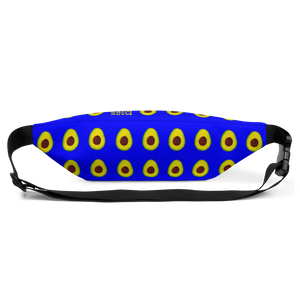 avocado blue kids fanny pack back