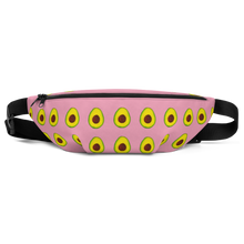 Load image into Gallery viewer, avocado pink kids fanny pack front