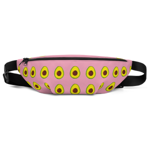 avocado pink kids fanny pack front