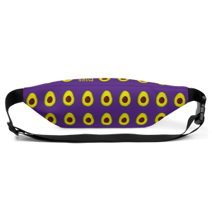 avocado purple kids fanny pack back