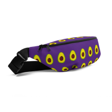 Load image into Gallery viewer, avocado purple kids fanny pack side